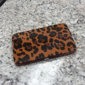 Handbags - Leopard print snap wallet